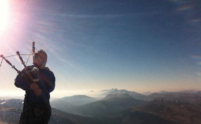 Beinn Dorain and Beinn an Dothaidh 4 Munro Bagpiper