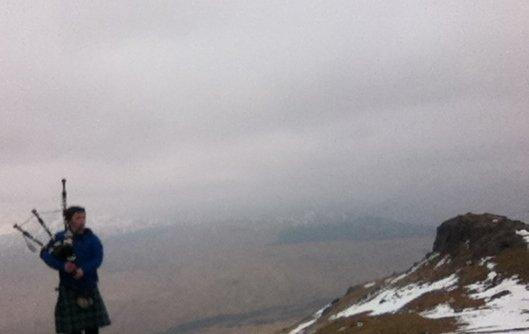 An Caisteal Munro Bagpiper
