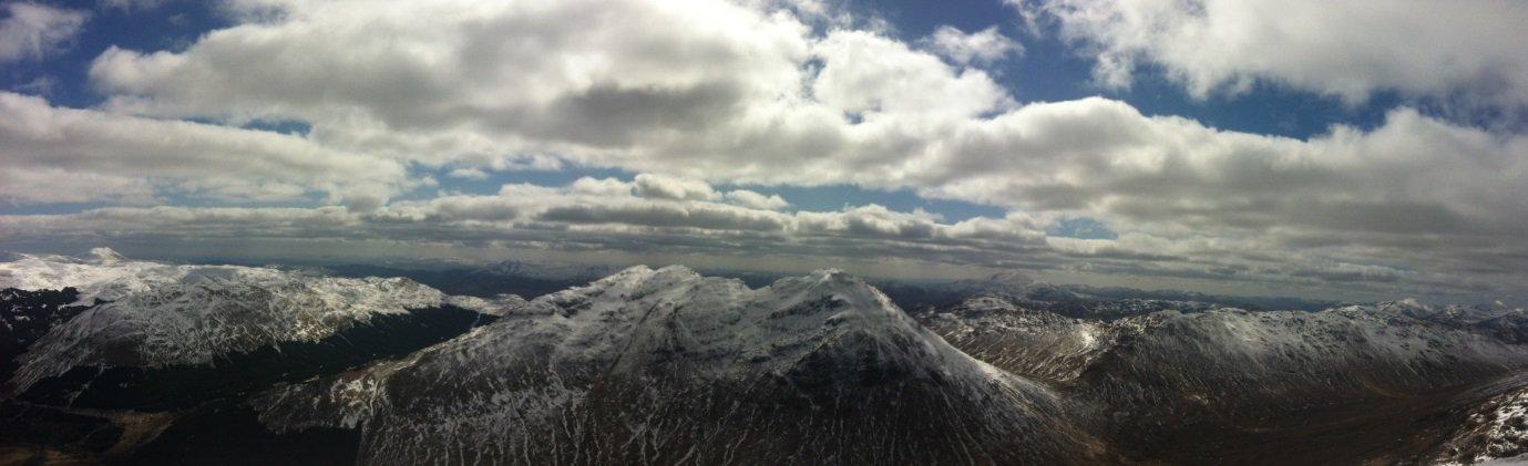 Beinn Tulleachean and Cruan Adrain Panorama