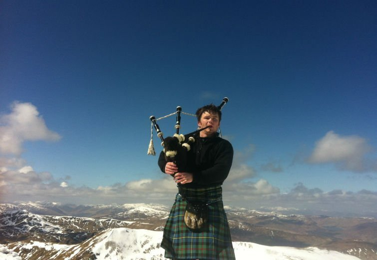 Ben Lawers Summit Munro Bagpiper