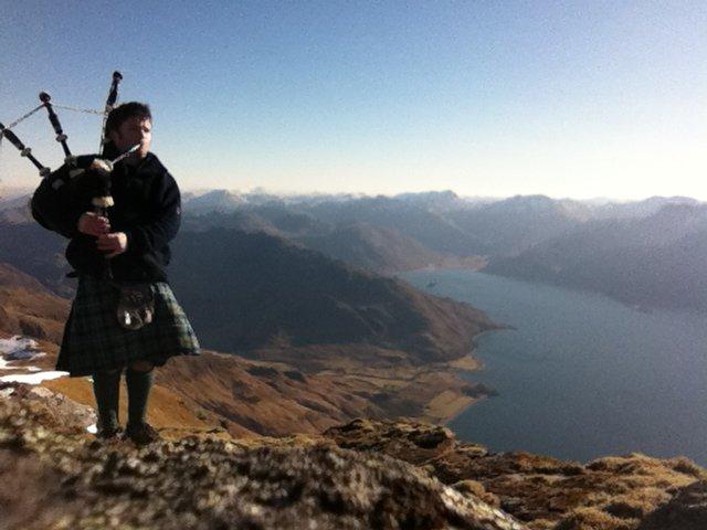 3 2 Beinn Sgritheall Munro Bagpiper