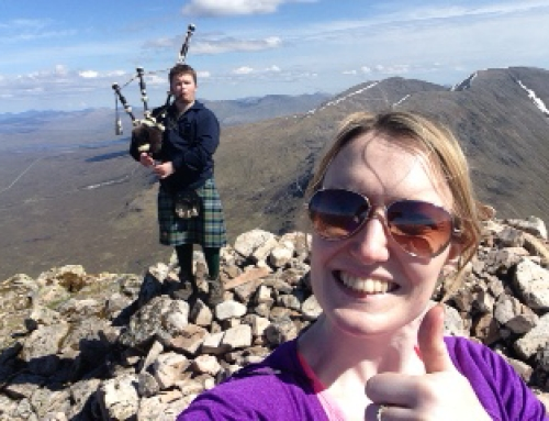 Pre-wedding stroll up Buachaille Etive Mor
